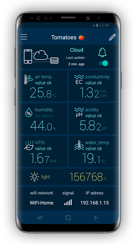 real-time data on smartphone